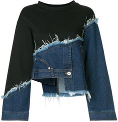 Aula deconstructed denim jumper