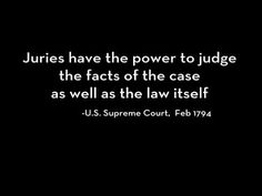 "BEN SWANN ANNOUNCES ""JUST US"" JURY NULLIFICATION. Good juries nullify bad laws. That's power to the people."