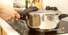Utiliza ollas a presión, consumen menos gas y ahorran tiempo.