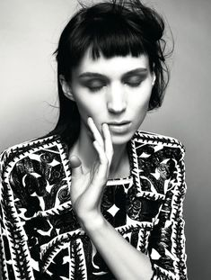 Rooney Mara | Glen Luchford | Dazed & Confused January 2012 | Who's ThatGirl - 3 Sensual Fashion Editorials | Art Exhibits - Anne of Carversville Women's News
