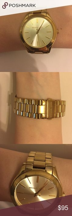 Michael Kors Gold Watch Used but in good condition. Does have some wear and scratches but comes with extra links and original tag! Michael Kors Accessories Watches
