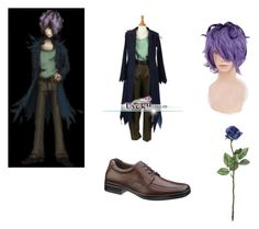 Garry (Ib) cosplay by animequeenash on Polyvore featuring Hush Puppies
