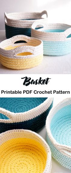 crochet handbags Make some Crochet Basket Patterns and get organized. These baskets are great for stashing yarn or other items. You could make them for gift baskets. Yarn Projects, Knitting Projects, Beginner Crochet Projects, Knitting Ideas, Cute Crochet, Crochet Baby, Crotchet, Crochet Tops, Kids Crochet