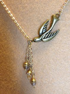 Sparrow Necklace by shadowonthesun9 on Etsy