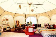 画像: 2/13【超贅沢キャンプ「グランピング」体験できる7日間限定のプロジェクト実施へ】 Glam Camping, Glamping, Bell Tent, Happy Campers, Horseback Riding, Table Decorations, Interior, House, Outdoor