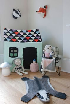 Lucky Boy Sunday knit toys at Molly-Meg online children's store www.molly-meg.co.uk