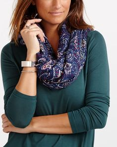 This Paisley Scarf is a must-have for any wardrobe. Use it to cover up your shoulders or let it drape loosely around your neck. Paisley Scarves, Must Haves, Cover Up, Color, Outfits, Suits, Colour, Clothes, Clothing