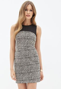 Chiffon-Paneled Sheath Dress #F21Contemporary
