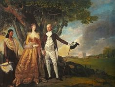Mr and Mrs Warren Hastings by Zoffany