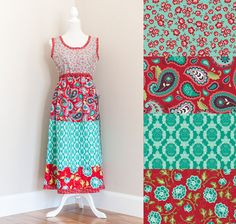 Tara Tank Dress Pattern featuring La Vie Boheme by The Quilted Fish for Riley Blake Designs