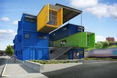 Nog een kantoor gebouwd van zeecontainers. Is dit een trend?