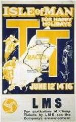 Vintage poster for the Isle of Man TT