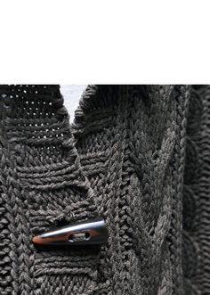Last 1) Loose Fit Hooded Long Wool Button-Cardigan 97 - GUYLOOK