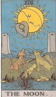 The tarot card associated with Pisces.