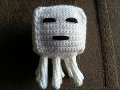 Welcome to post Yay! (I like to imagine a crowd cheering in the background) As mentioned previously, I have been attempting to crochet a ghast from the game Minecraft. Last night was spent makin… Minecraft Knitting, Minecraft Crochet, Cute Crochet, Crochet For Kids, Crochet Toys, Minecraft Designs, Minecraft Crafts, Crochet Doll Pattern, Crochet Patterns