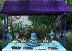 Peacock Sweet Dessert Table
