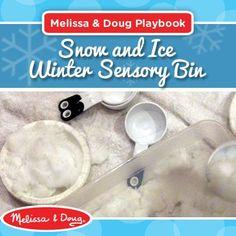 Sensory bin activities using snow and ice!