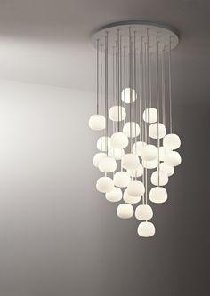 Lampes à suspension: Luminaire Lumi Mochi par Fabbian