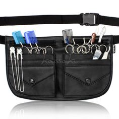 Mini Clásico Bolso De toolbelt De Tijera peluquería Pistolera Estuche