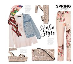 """""""Spring Boho (Top Set 25 March 17 - Thanx PV 😘)"""" by badassbabyboomer ❤ liked on Polyvore featuring The Kooples, The Row, Frame, Gucci, Alexander Wang and River Island"""