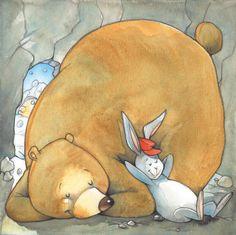 S.Provantini  bear and rabbit hibernating