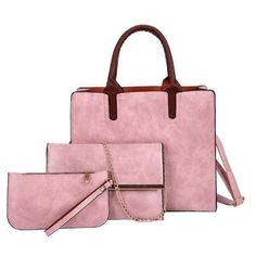 3 Set Designer Women Leather Crossbody Bags – KES Store Leather Crossbody Bag, Leather Handbags, Leather Backpack, Pu Leather, Crossbody Bags, Vegan Leather, Luxury Handbags, Shoulder Bag, Tote Bag