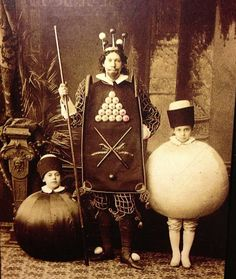 Old Russian Family Photo in Costumes