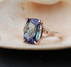 3rd payment Tanzanite Ring. Rose Gold Engagement by EidelPrecious