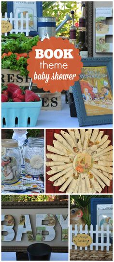 What a great idea for a baby shower! Bring a book for baby! See more party ideas at CatchMyParty.com!