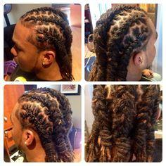 Loc styling for men