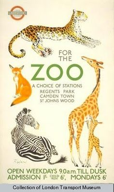 London mums and children: Vintage London Zoo Posters