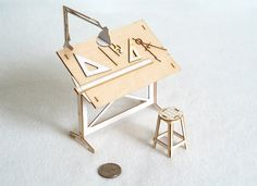 Miniature Drafting Table Model Kit – The Colossal Shop