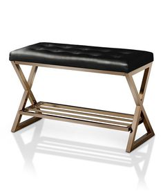 Reduce your home's clutter with this modern-chic bench that features a sleek shelf for footwear organization.