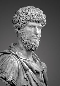Ancient Rome. Portrait bust of Emperor Lucius Verus from Acqua Traversa, Musee du Louvre