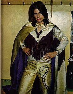 Ozzy Osbourne backstage, California Jam 1974