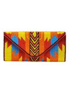 Acquire this hip aztec-inspired beaded #clutch for less than it costs for dinner at most #NYC hotspots. #bargain #stylish