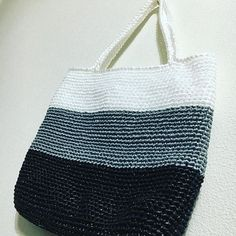 Images about #スズランテープ tag on instagram Crochet Bags, Crocheting, Reusable Tote Bags, Crochet Purses, Crochet, Chrochet, Crochet Clutch Bags, Breien, Crochet Tote