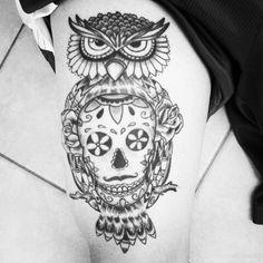 #owl #skull #manuelitas10