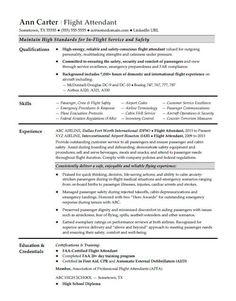 Flight Attendant Resume Example Flight Attendant Resume