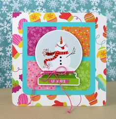 Links to detailed instructions for this card. Diy Christmas Cards, Handmade Christmas, Snowball Fight, Cute Cards, I Card, Handmade Cards, Card Ideas, Card Making, Cricut
