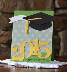 2015 Graduation Card by Amy Sheffer for Papertrey Ink (March 2015)