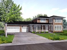 - 73194HS | Northwest, Prairie, 2nd Floor Master Suite, Butler Walk-in Pantry, CAD Available, Jack & Jill Bath, MBR Sitting Area, PDF | Architectural Designs