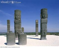 Tula, Mexico statues of the Toltec warriors