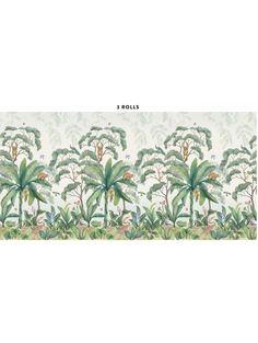 Jungle Wallpaper Mural | Luscious Wallpaper Ideas for the Home | Wallpaper, Room, Nursery