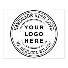 Business Stamps, Business Logo, Love Stamps, Ink Stamps, Custom Rubber Stamps, Round Logo, Wood Stamp, Jar Labels, Vintage Stamps