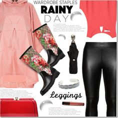 How To Wear Wardrobe staples Summer Rainy Day Leggings Outfit Idea 2017 - Fashion Trends Ready To Wear For Plus Size, Curvy Women Over 20, 30, 40, 50