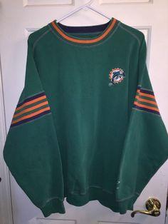 Vintage Miami Dolphins Sweatshirt XL Vtg 70s 80s Pullover NFL Dolphin Patch | eBay