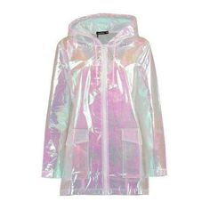 Wrap up in the latest coats and jackets and get out-there with your outerwear. Breathe life into your new season layering with the latest coats and jackets fr… Girls Fashion Clothes, Girl Fashion, Fashion Outfits, Clothes For Women, Holographic Raincoat, Mode Outfits, Girl Outfits, Holographic Fashion, Raincoat Outfit