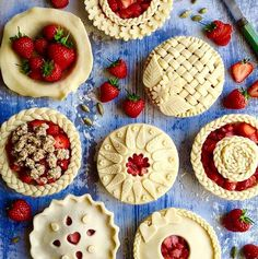 Strawberries and pies! The best treat!