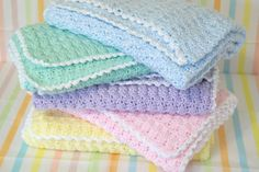 baby blankets.. .every child needs a handmade blanket :P